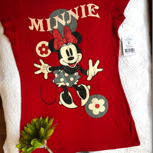 ***3/$15*** Disney Minnie Girls' Red T-Shirt M NWT